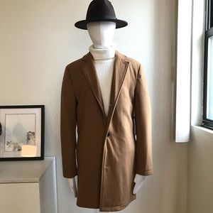 NWT Forever21 men's brown camel coat in size small